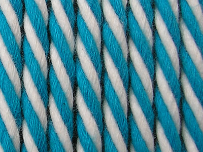 Turquoise Striped Cord | Striped Rope Turquoise and White Stripes