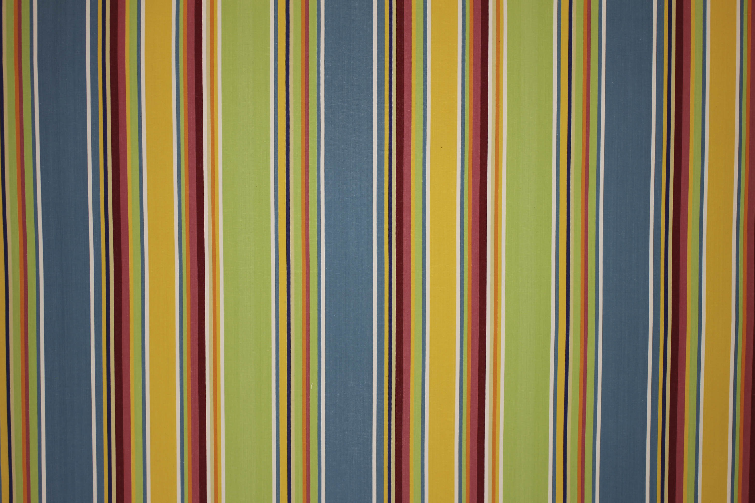 Striped Oilcloth Fabric | Wipeable Stripe Fabrics yellow, green, blue