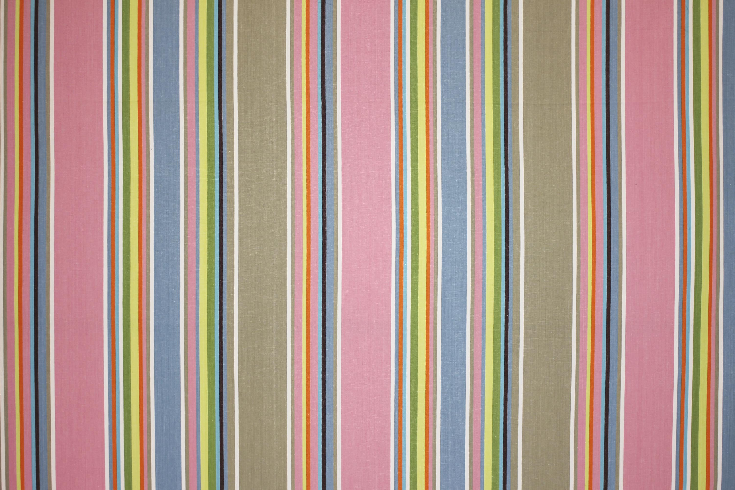 Pink, Grey, Blue  Striped  Water Repellent Fabrics