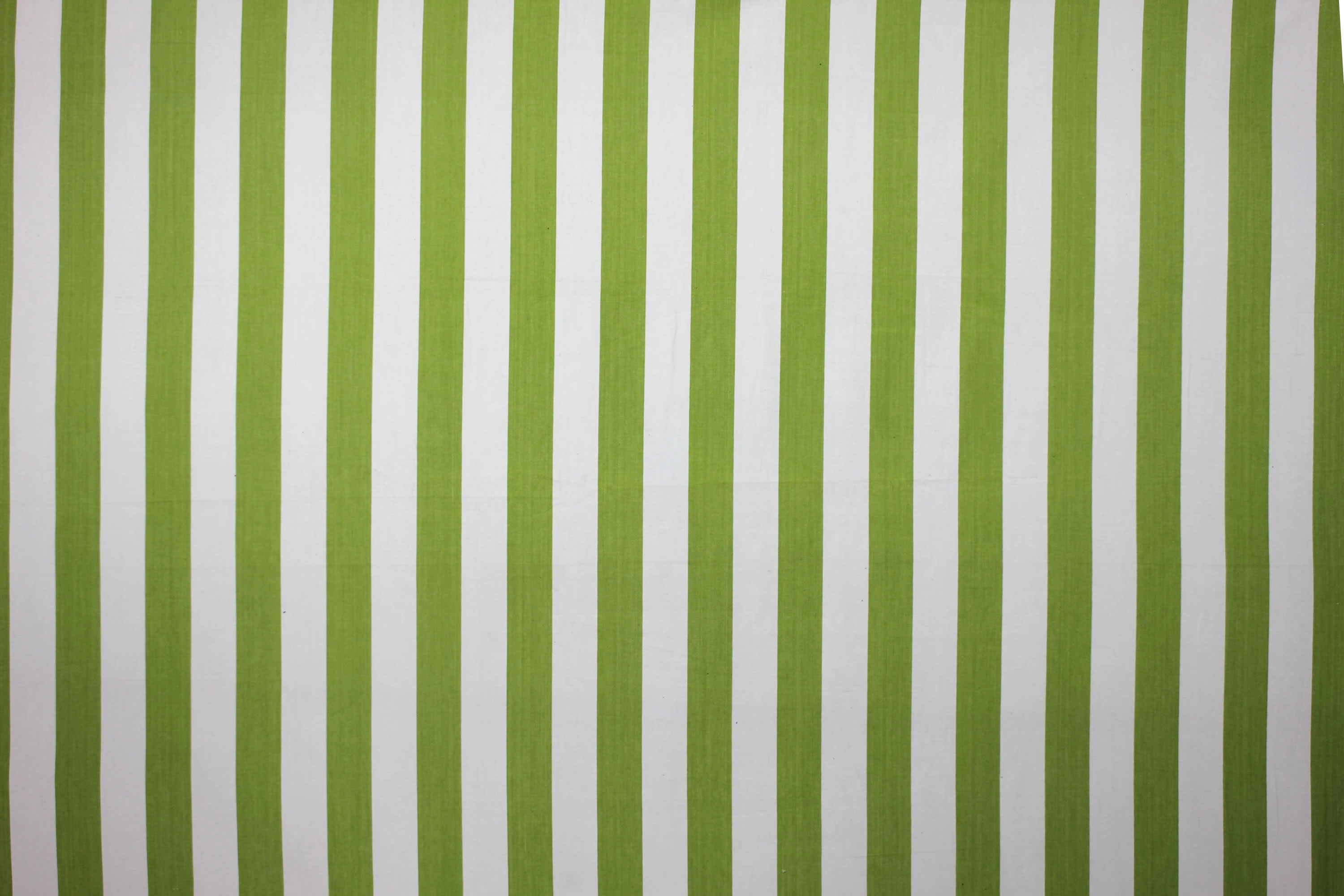 Lime Green and White Stripe Oilcloth Fabric | The Stripes Company ...