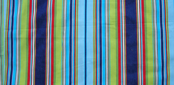 Striped Oilcloth Fabric | Wipeable Stripe Fabrics navy, pale blue, turquoise
