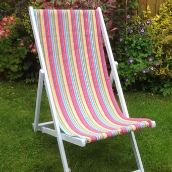 Deckchair Canvas Fabric used to recover deckchair