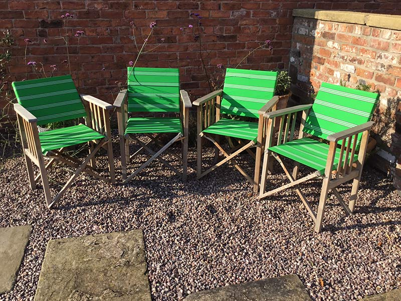 Green directors chair covers