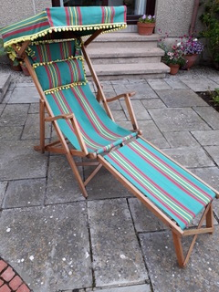 Recover Edwardian Deck Chair