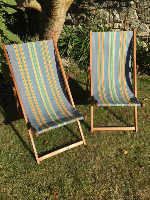 restore dilapidated deckchairs with heritage fabric