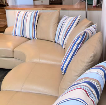 Sofa Cushions Striped