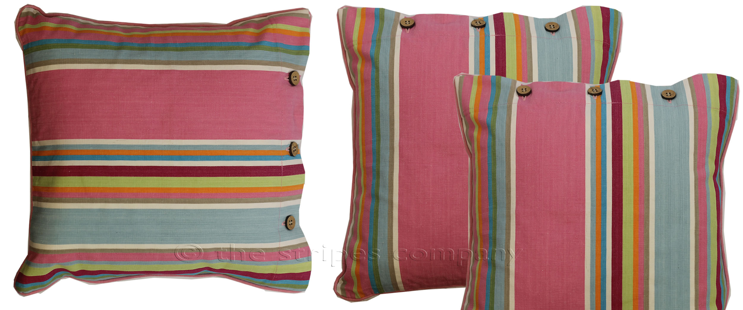 Striped Buttoned Cushions