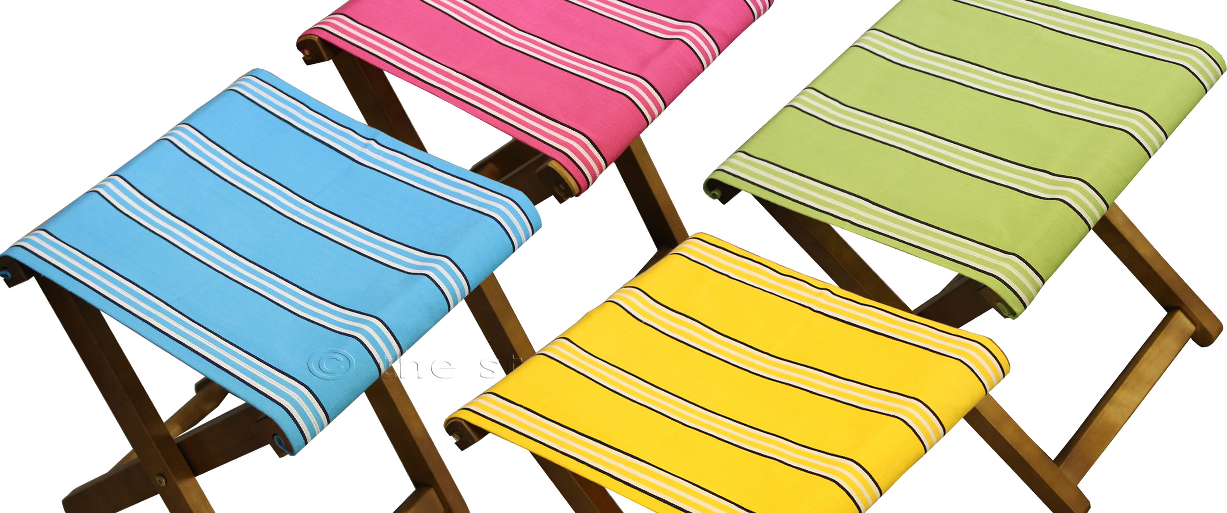 Admirable Portable Folding Stools With Striped Seats The Stripes Camellatalisay Diy Chair Ideas Camellatalisaycom