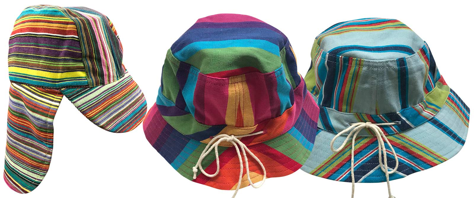 Kids Bucket Hats | Childrens Striped Sun Hats