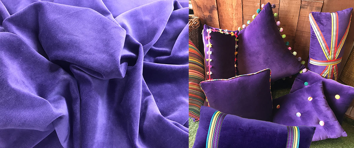 Purple Velvet Cushions and Home Accessories