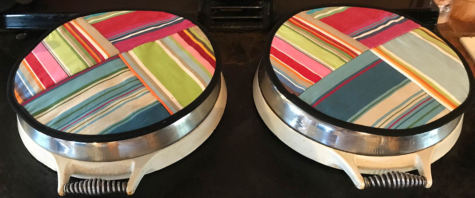 Striped Hob Covers for Agas | Multi Stripe Chefs Pads