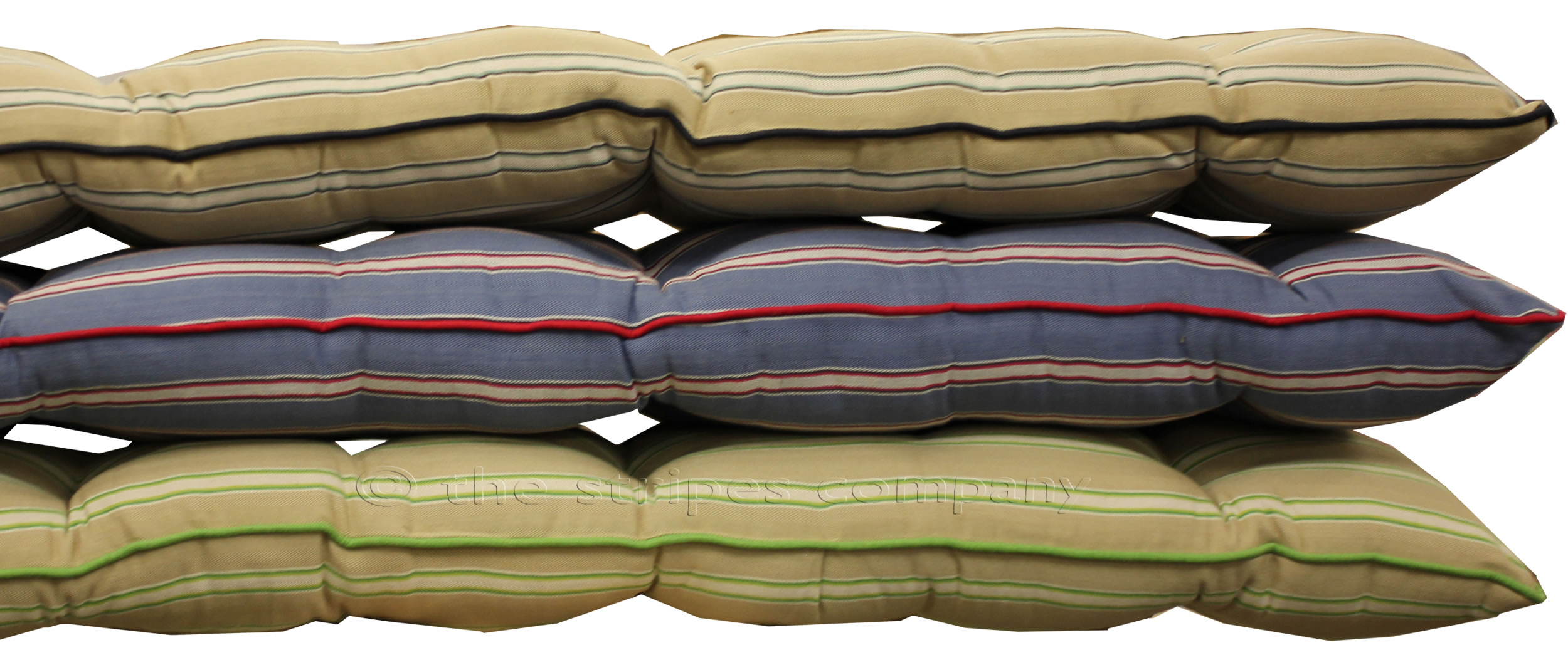 Striped Bench Cushions | Long Seat Cushions