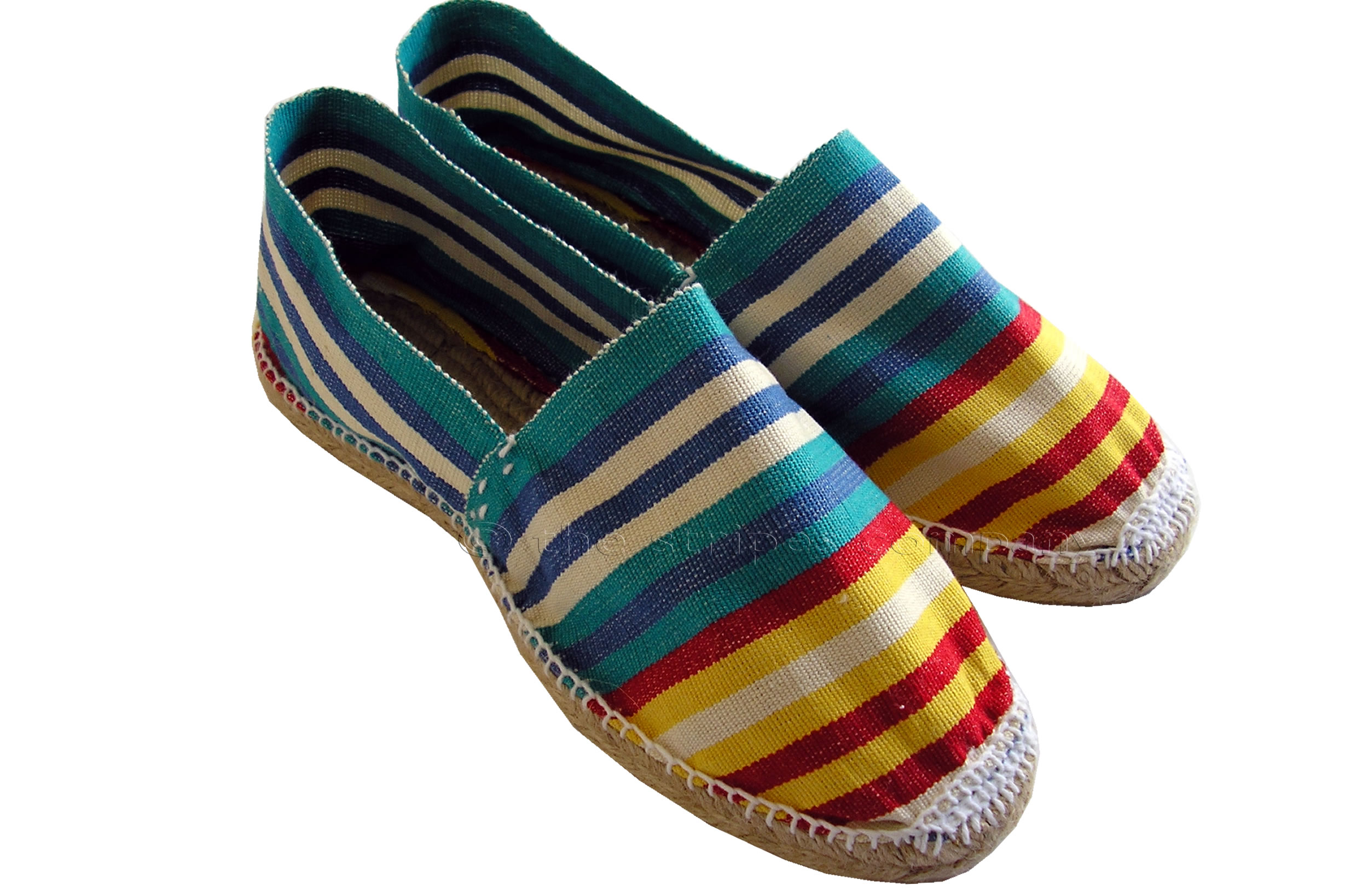 Striped Espadrilles - Marathon Stripe
