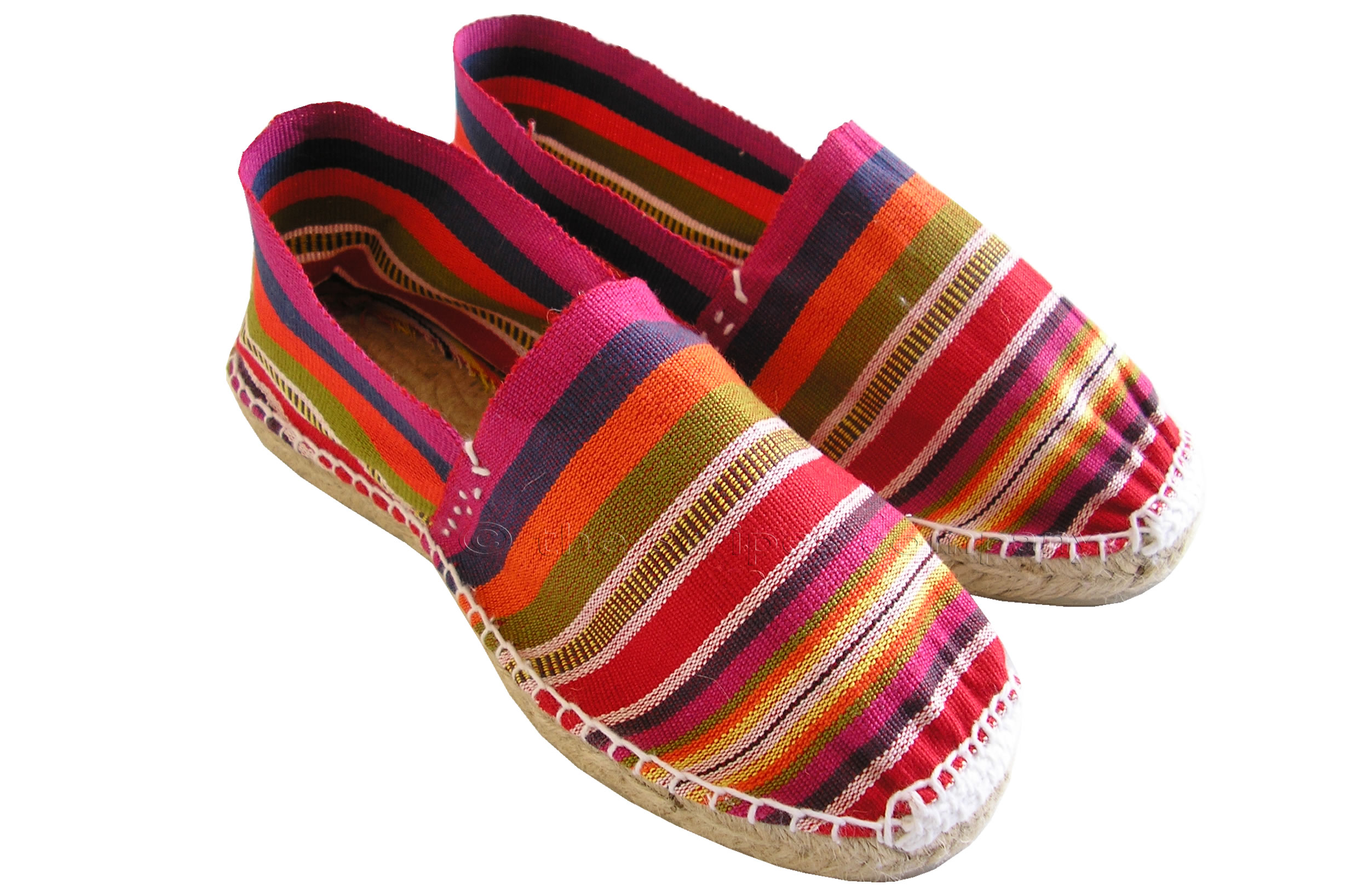 Pink Striped Espadrilles | Pink Navy Multi Stripe Espadrille Shoes