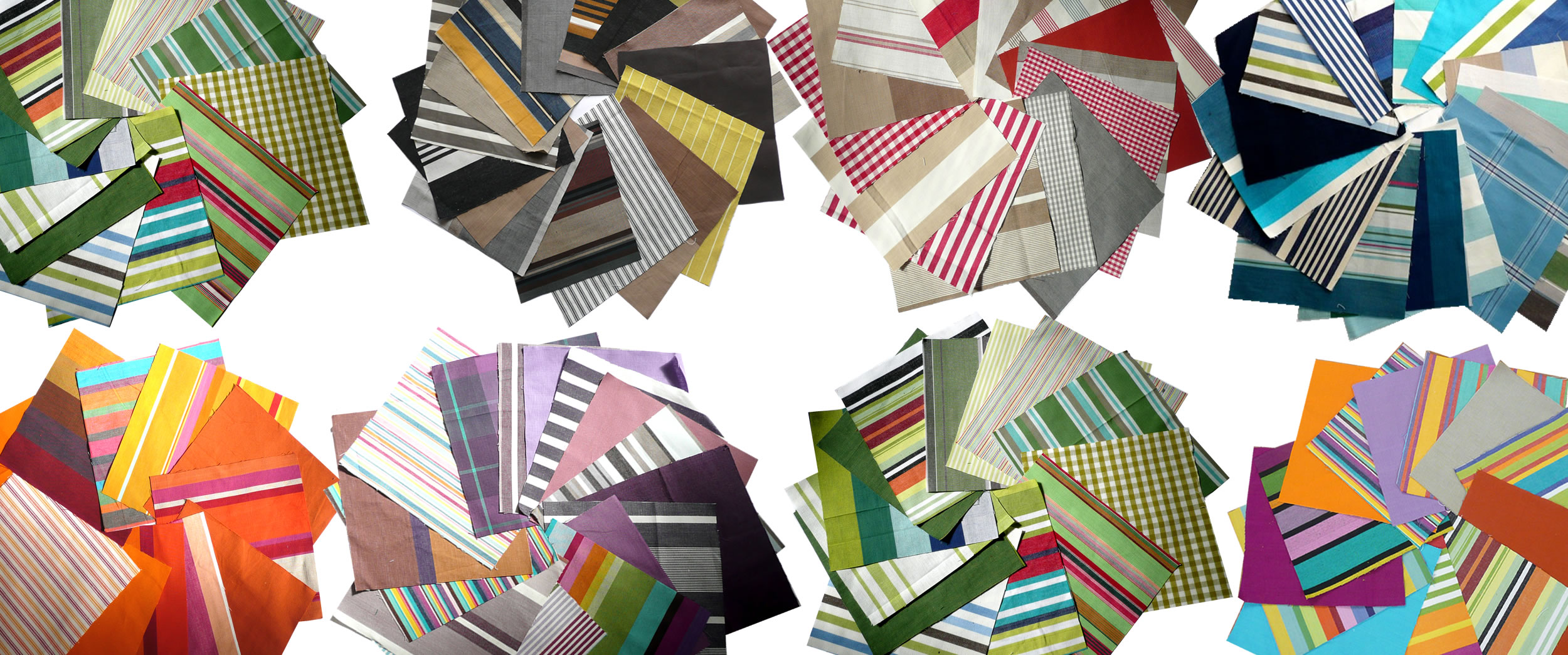 Striped Cotton Fabric Squares | Patchwork Fabric Squares | Quilting Fabric Squares