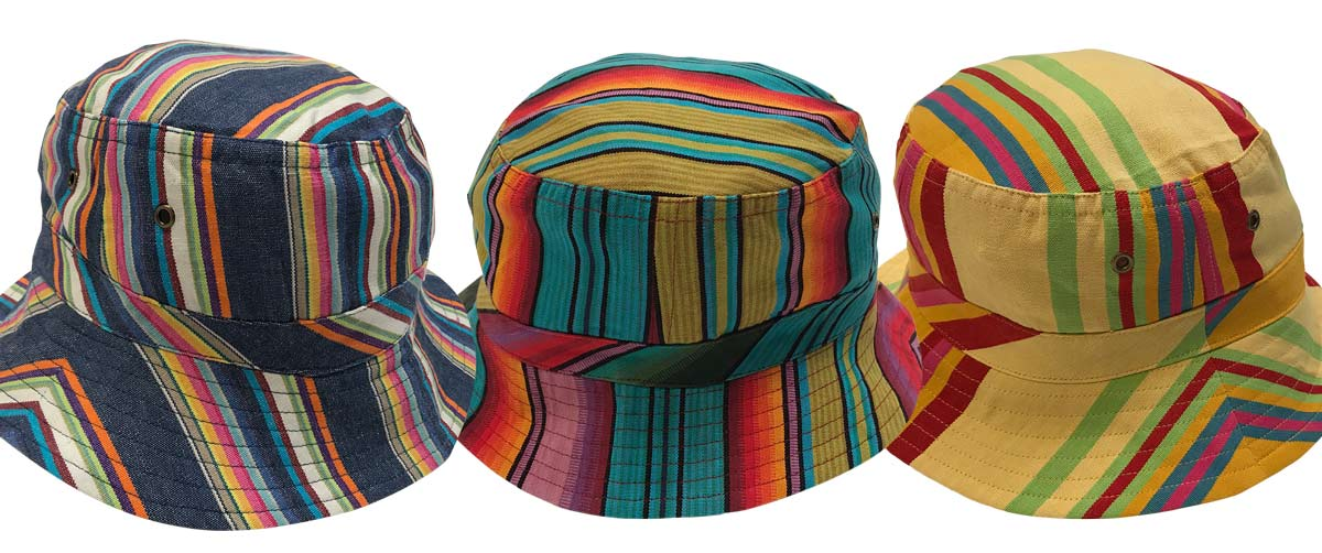 Striped Bucket Hats - Stripe Sun Hat