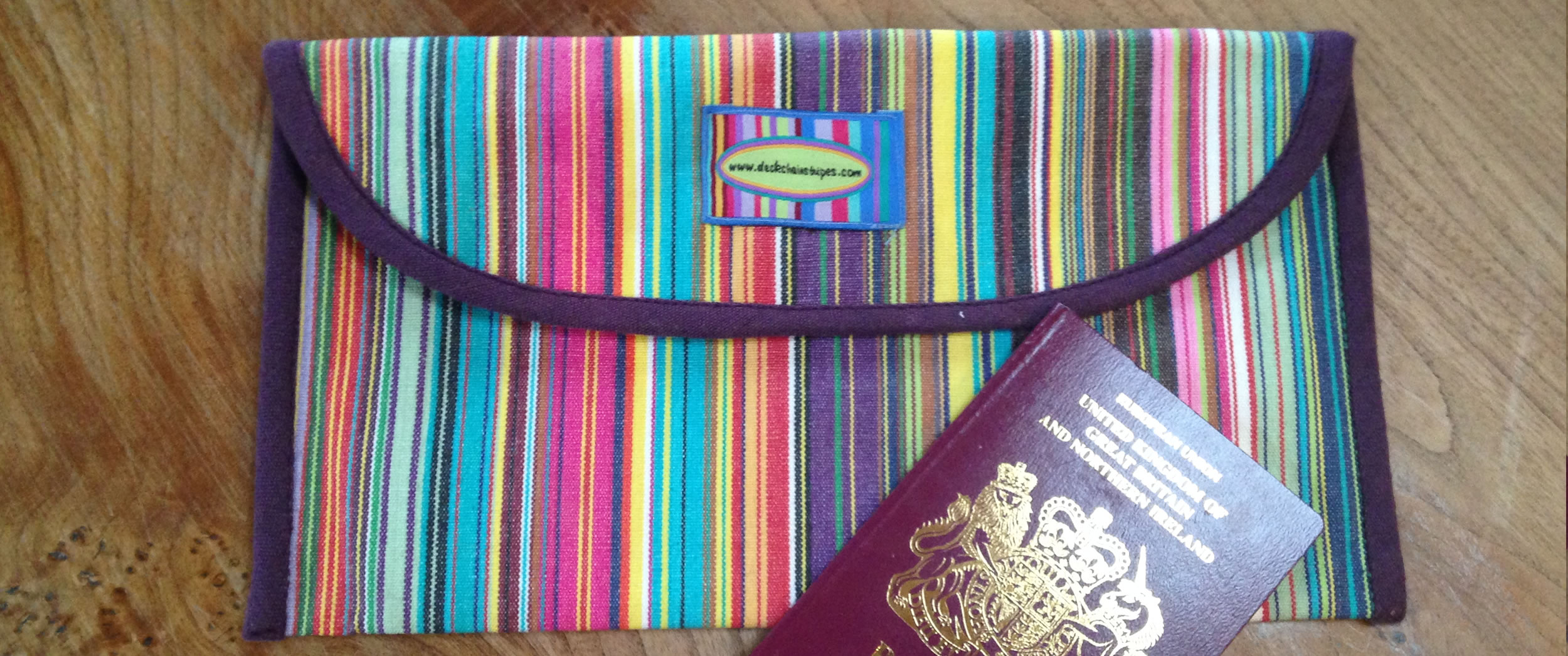 Striped Travel Document Wallets