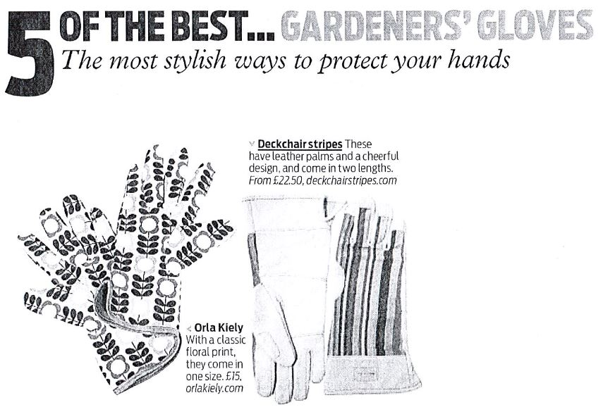 Daily Mail 5 of the best gardening gloves May 23rd 2015