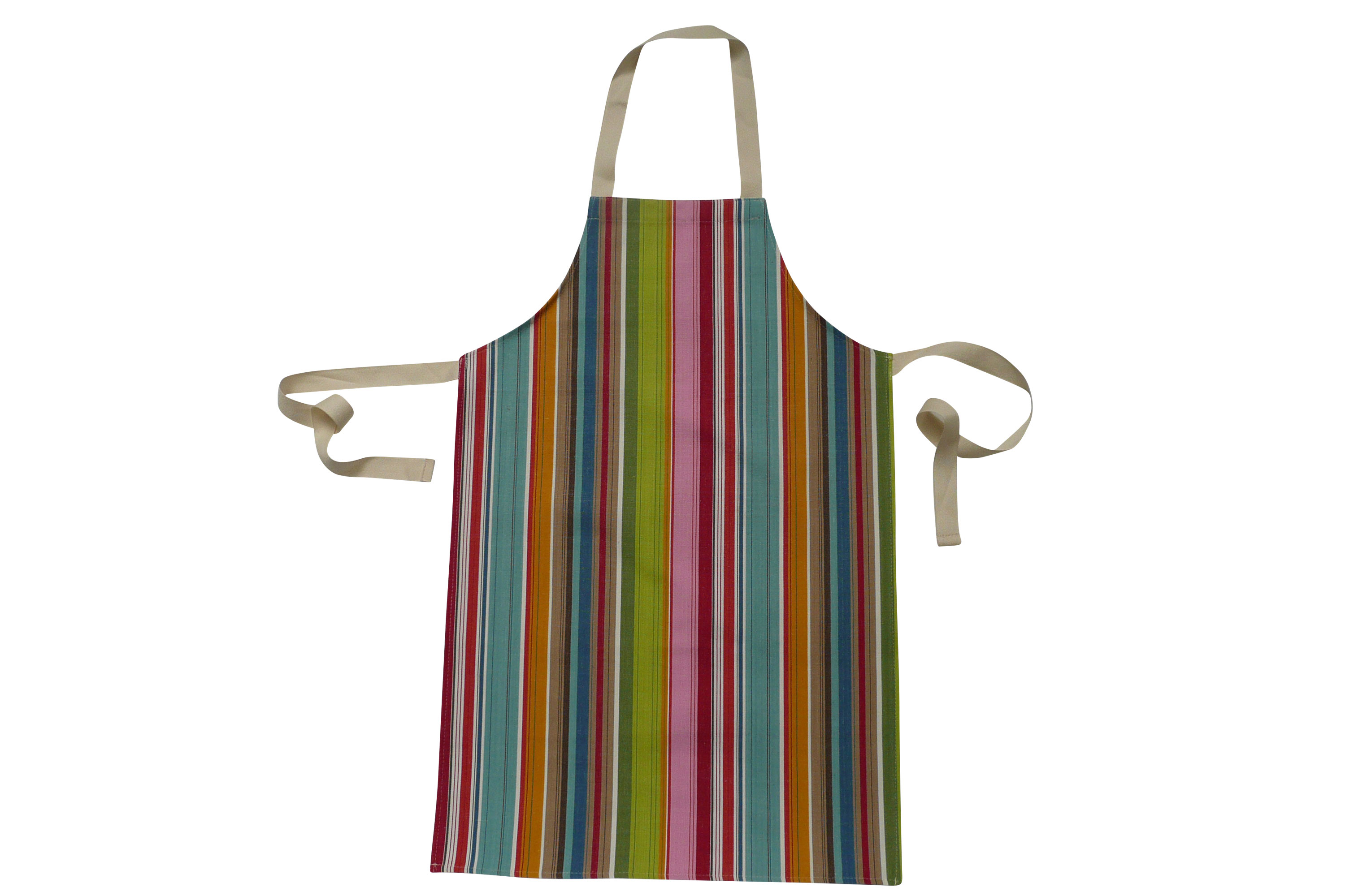 Striped Kids Aprons | Aprons for Children pink, blue, red