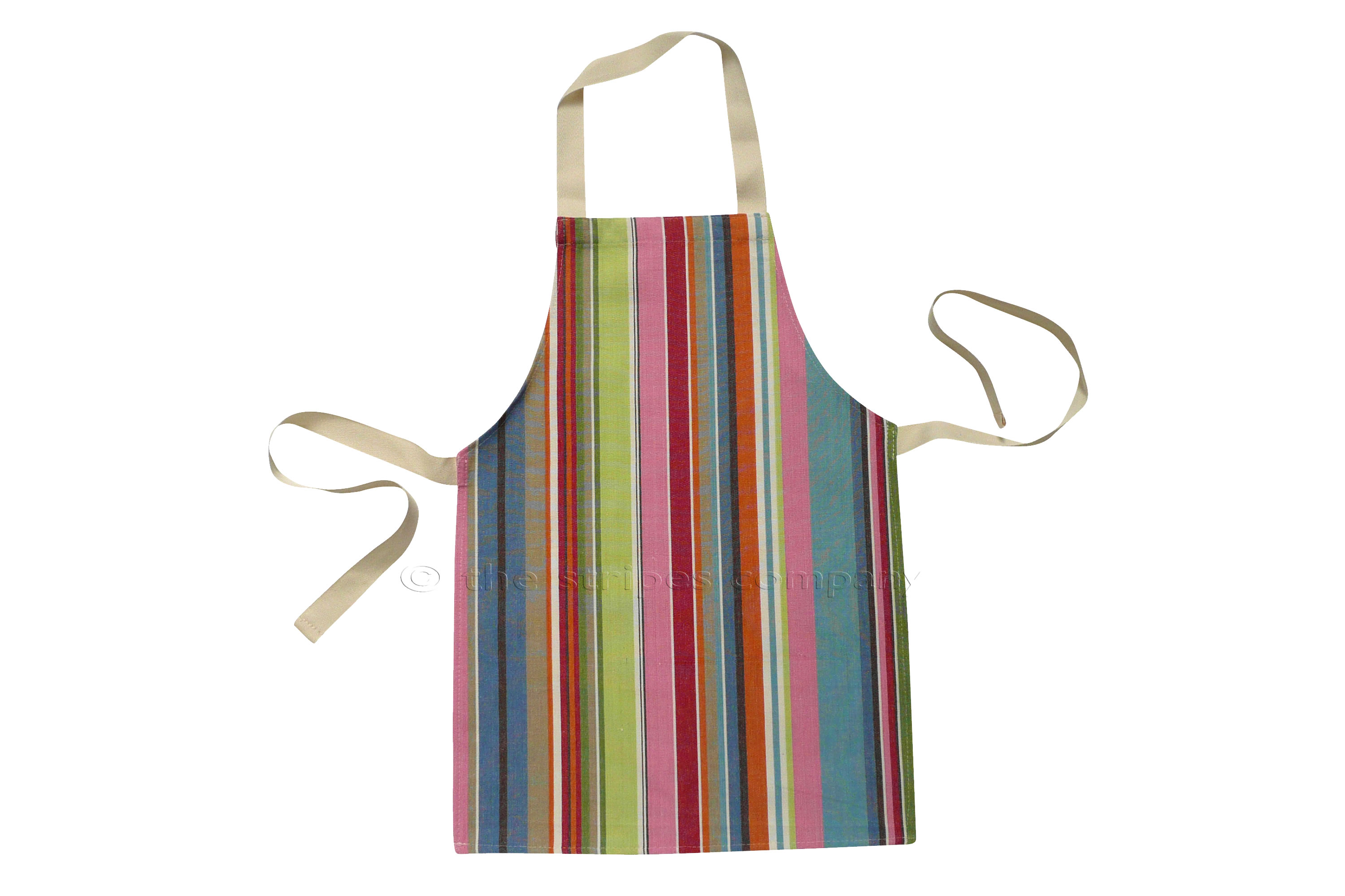 Blue Striped Kids Aprons | Aprons for Children - Blue Pink Turquoise Stripes