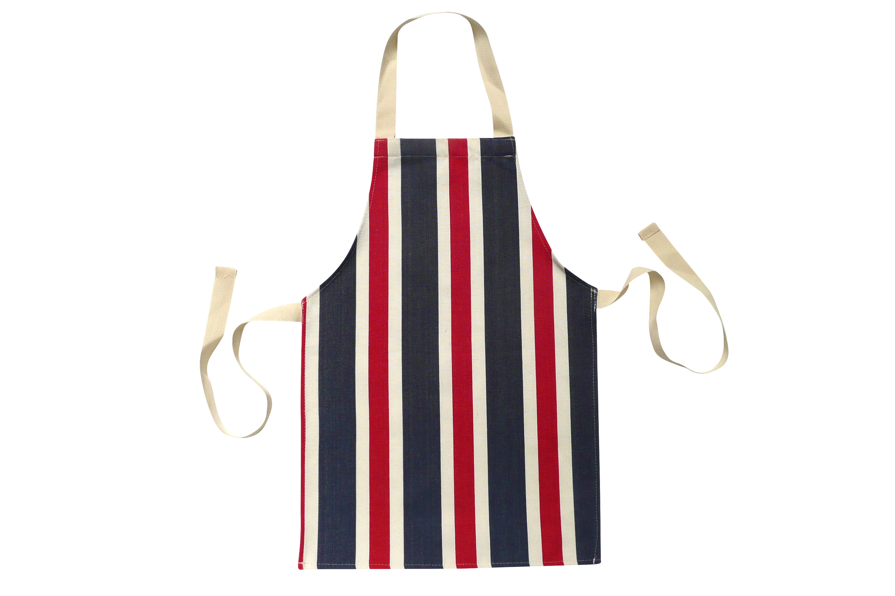 Red, White and Blue Stripe Toddlers Aprons - Striped Aprons For Small Children