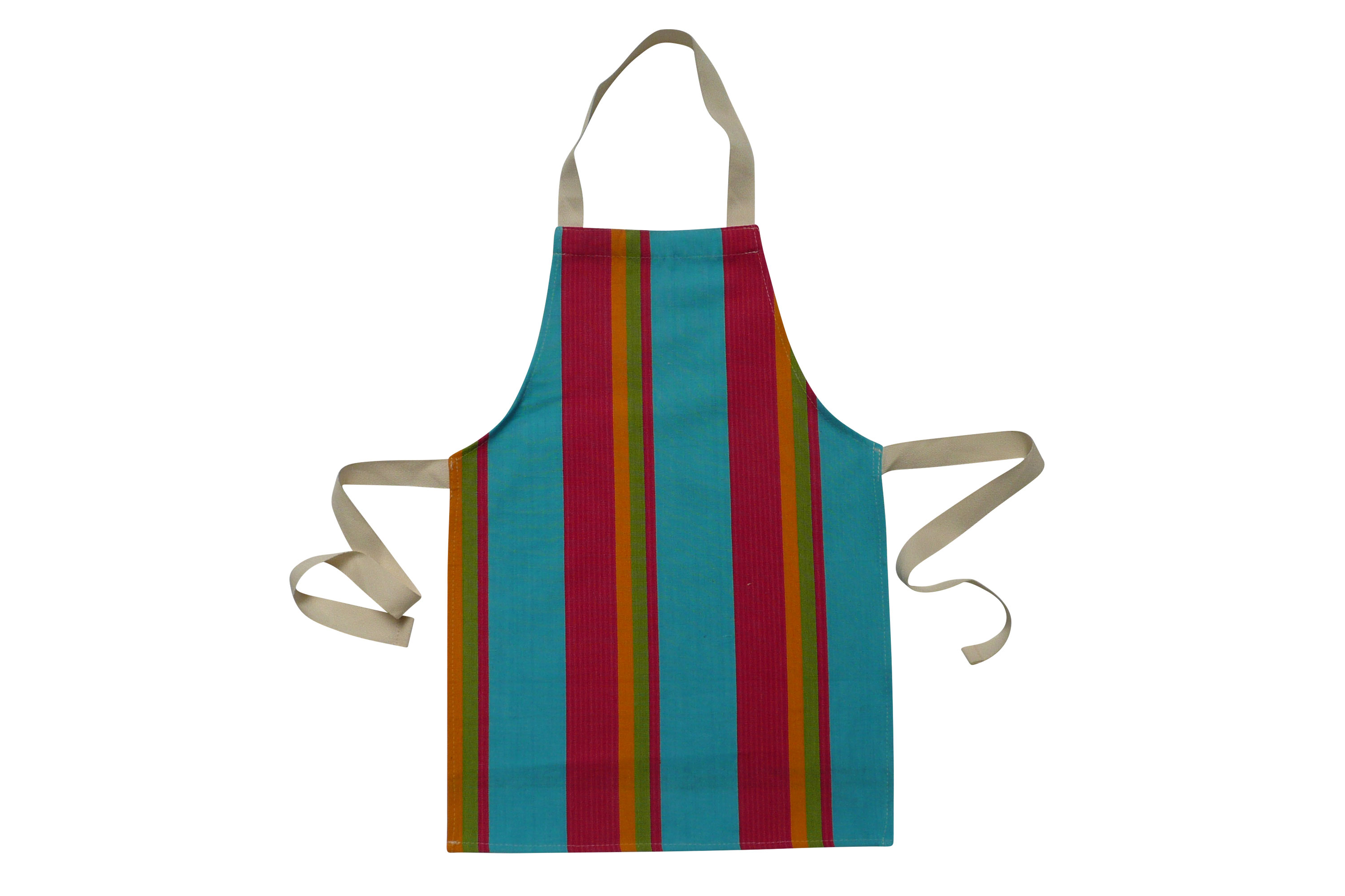 Toddlers Aprons - Striped Aprons For Small Childrenpink, turquoise, yellow