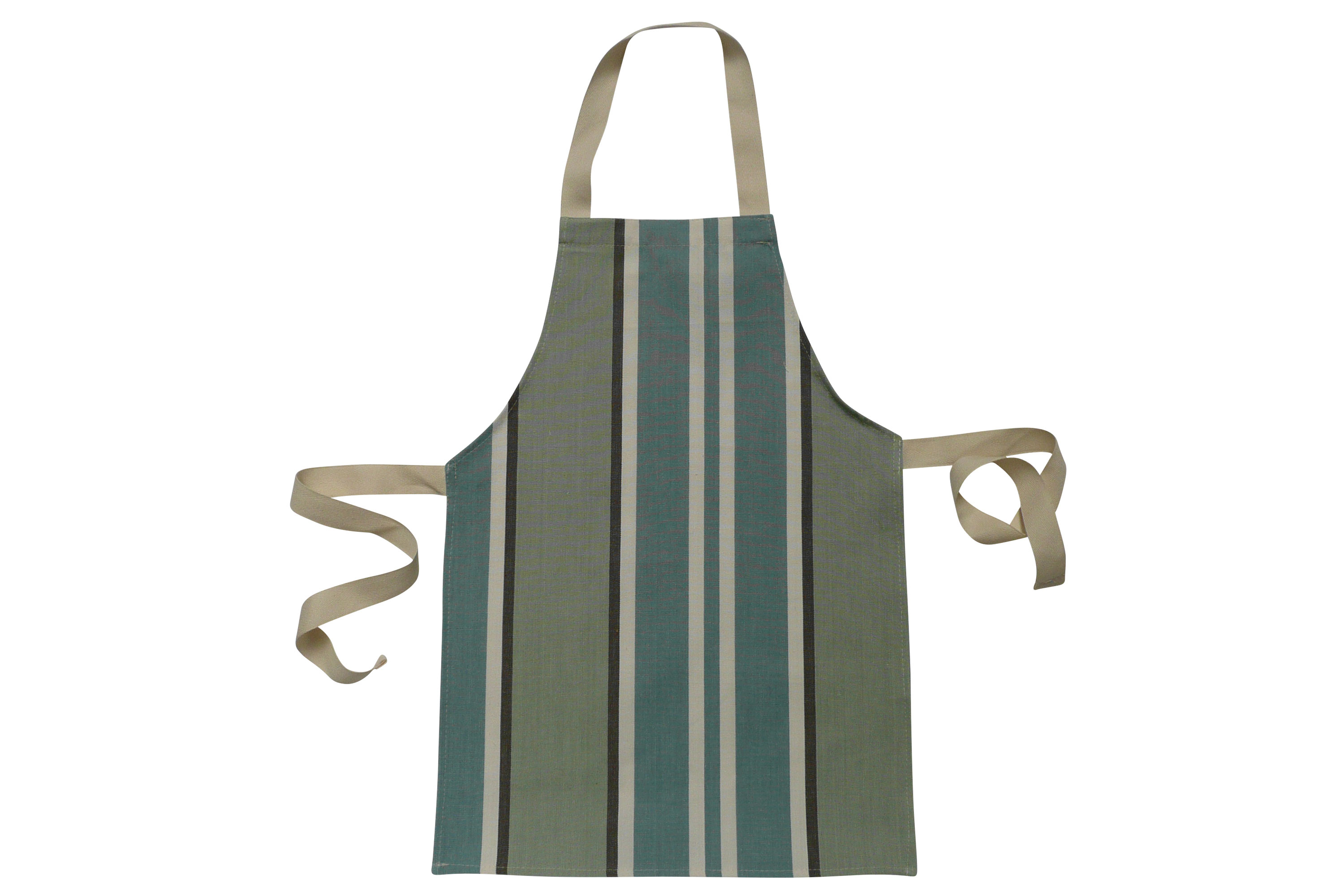 Toddlers Aprons - Striped Aprons For Small Childrenteal, pale aqua, dark grey