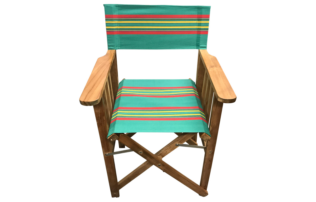 Jade green, red, yellow - Directors Chairs