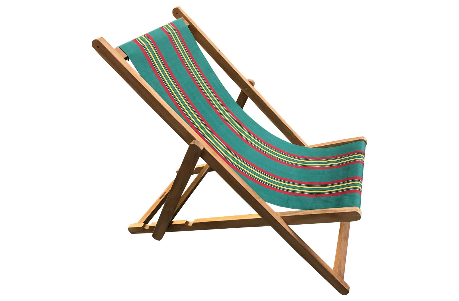 Deckchairs | Buy Folding Wooden Deck Chairs Jade green, red, yellow