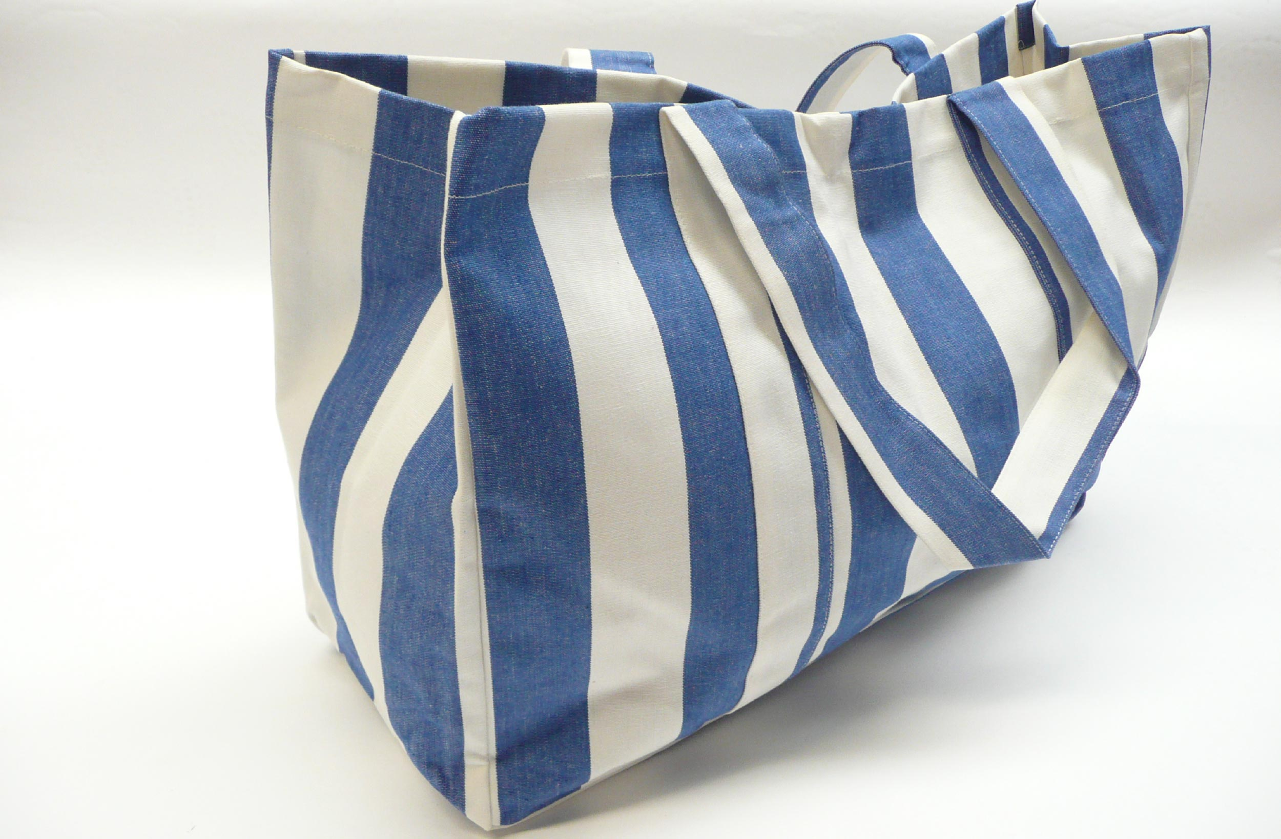 Extra Large Blue And White Beach Bag The Stripes Company United