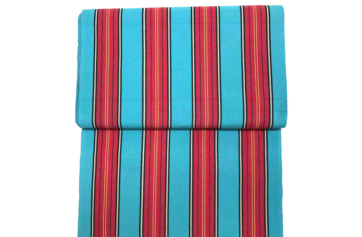 Bobsleigh Deckchair Headrest Cushions | Tie on Pompom Headrest Pillow light blue, red
