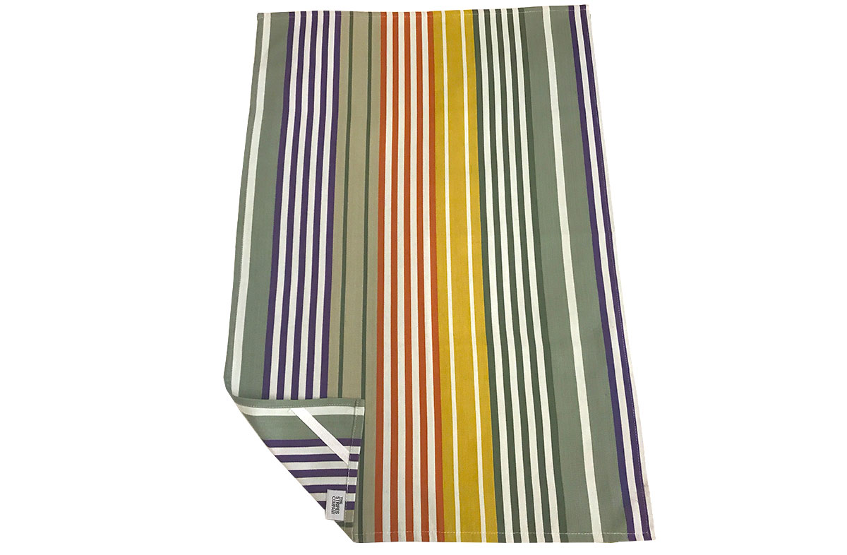 Sage Green Stripe Tea Towels