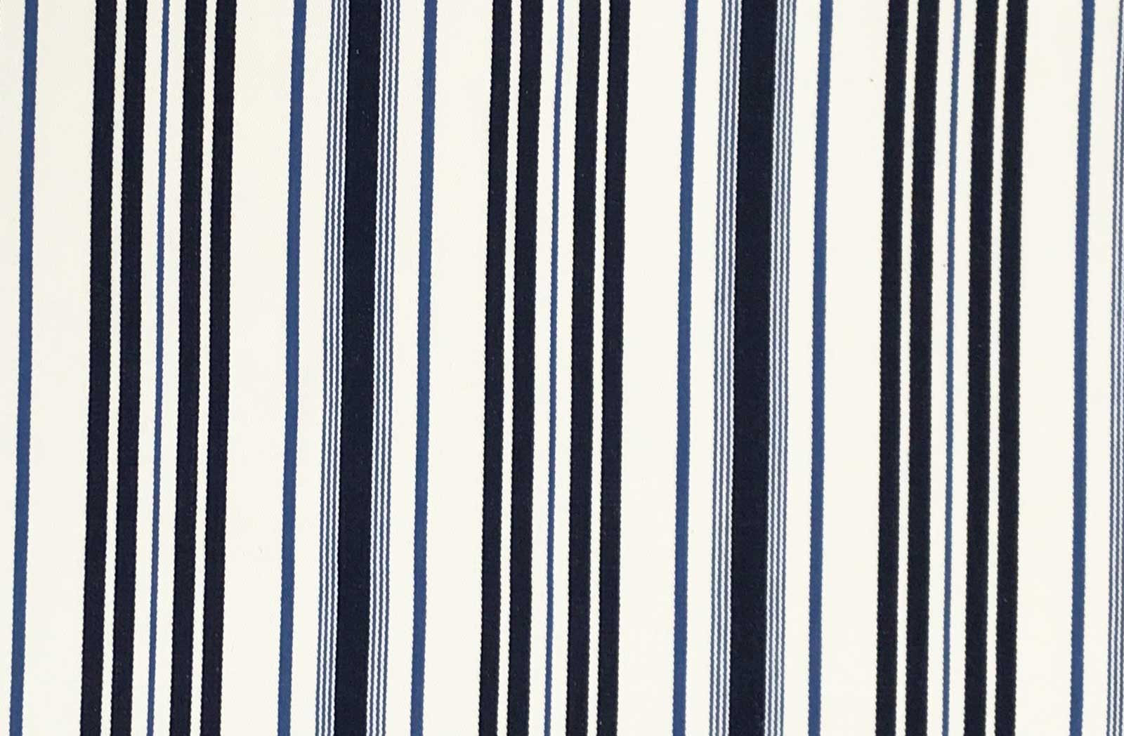 White and Blue Stripe Ticking Fabric