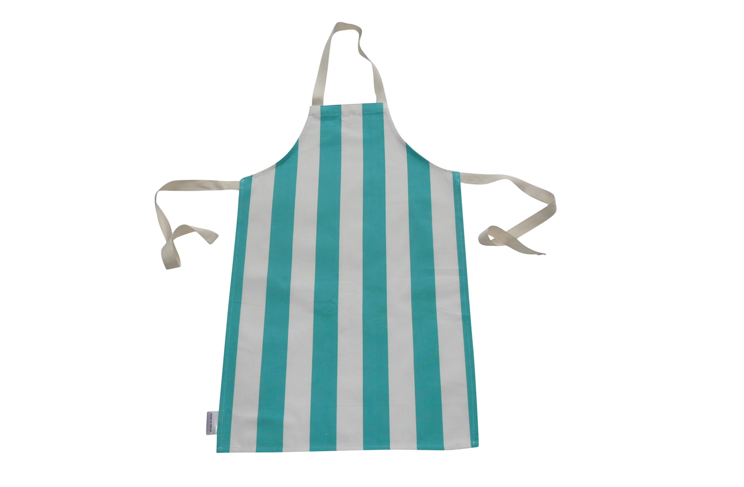 Turquoise and White Striped Childrens Aprons