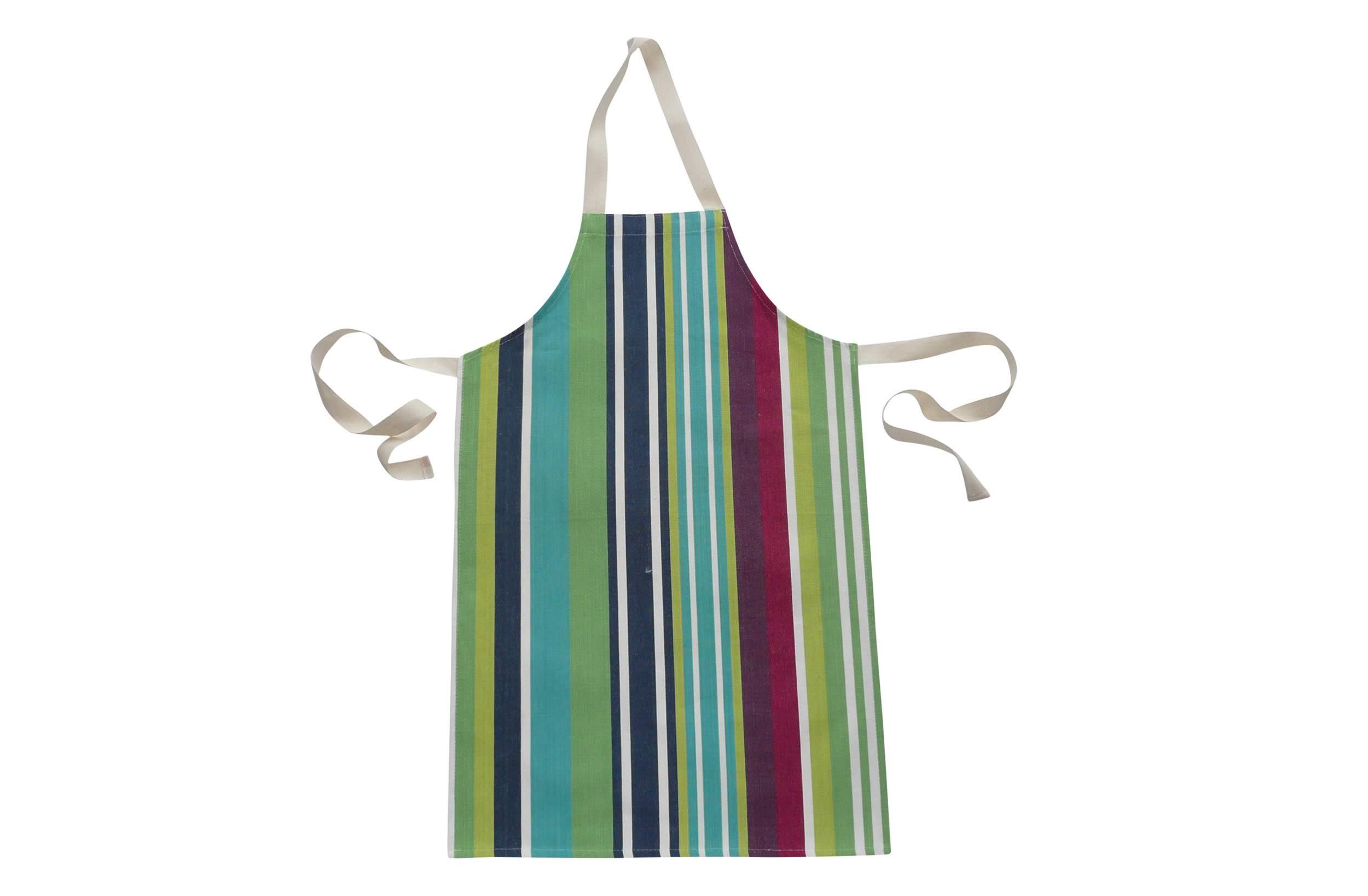 Green Navy Striped Childrens Apron