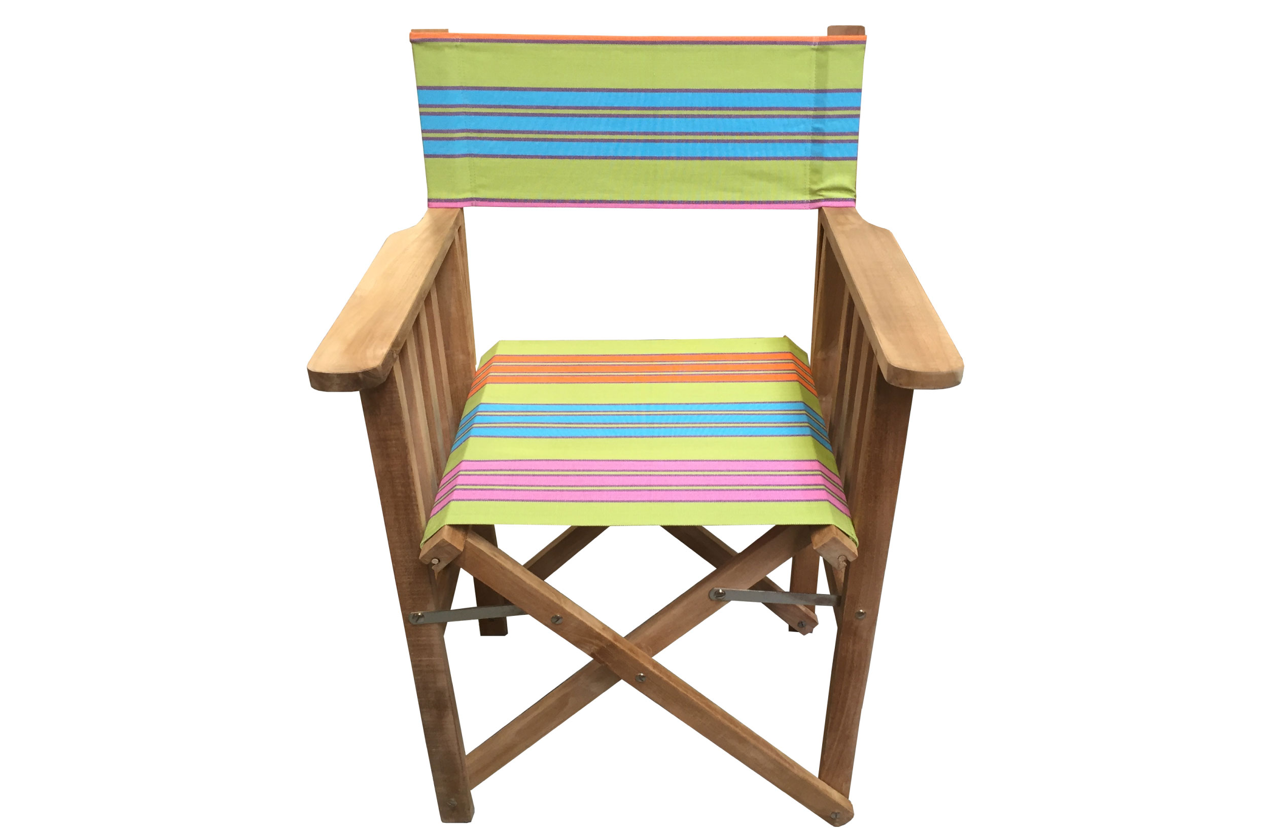 Wood Directors Chair - Cribbage Stripe