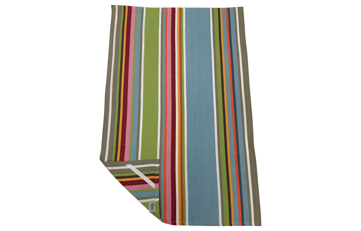 Duck Egg Blue Striped Tea Towels | Cricket Stripe