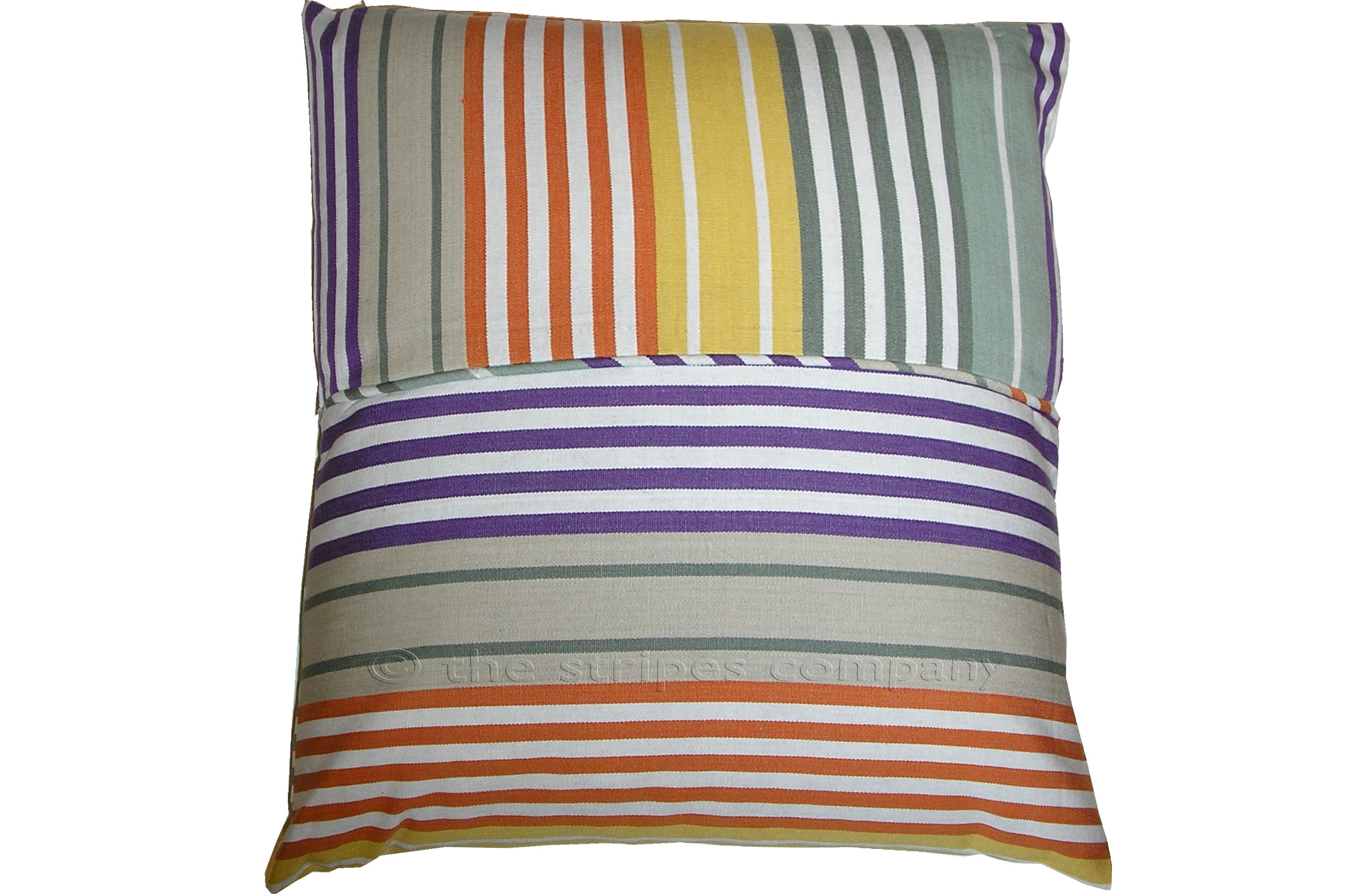 Sage Green Striped Piped Cushions