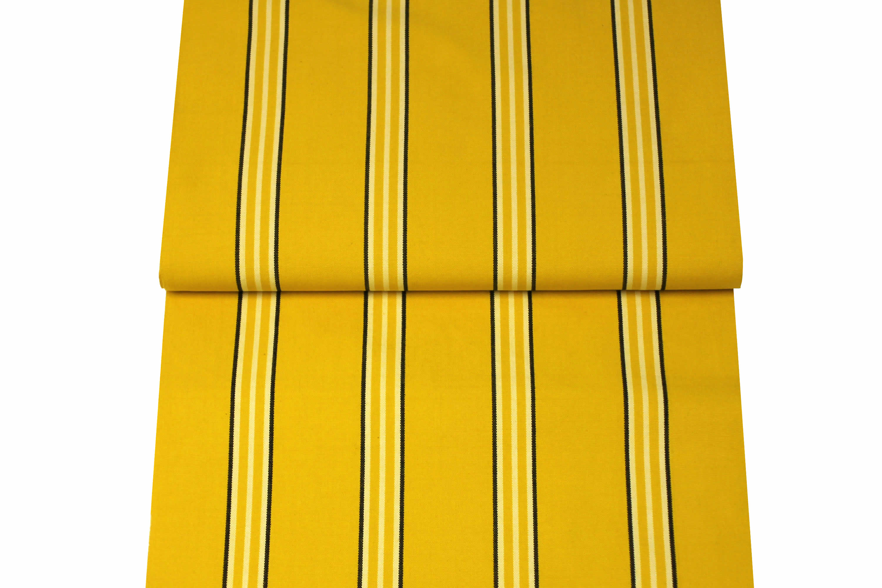 Yellow Striped Deckchair Canvas Fabric