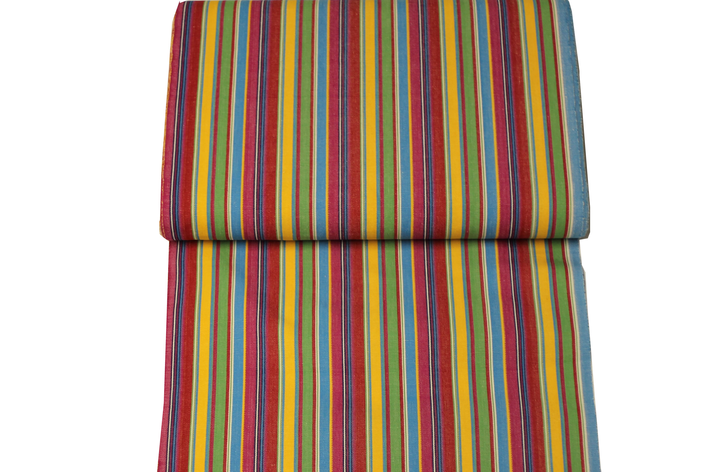Pink Green Yellow Stripe Deck Chair Canvas Fabric