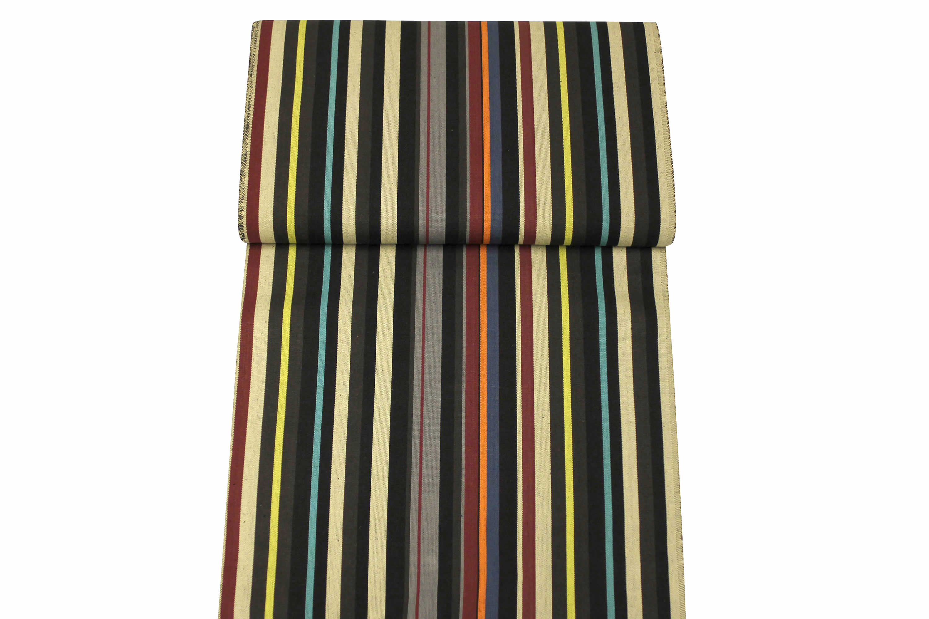 Black Striped Deckchair Canvas Fabric