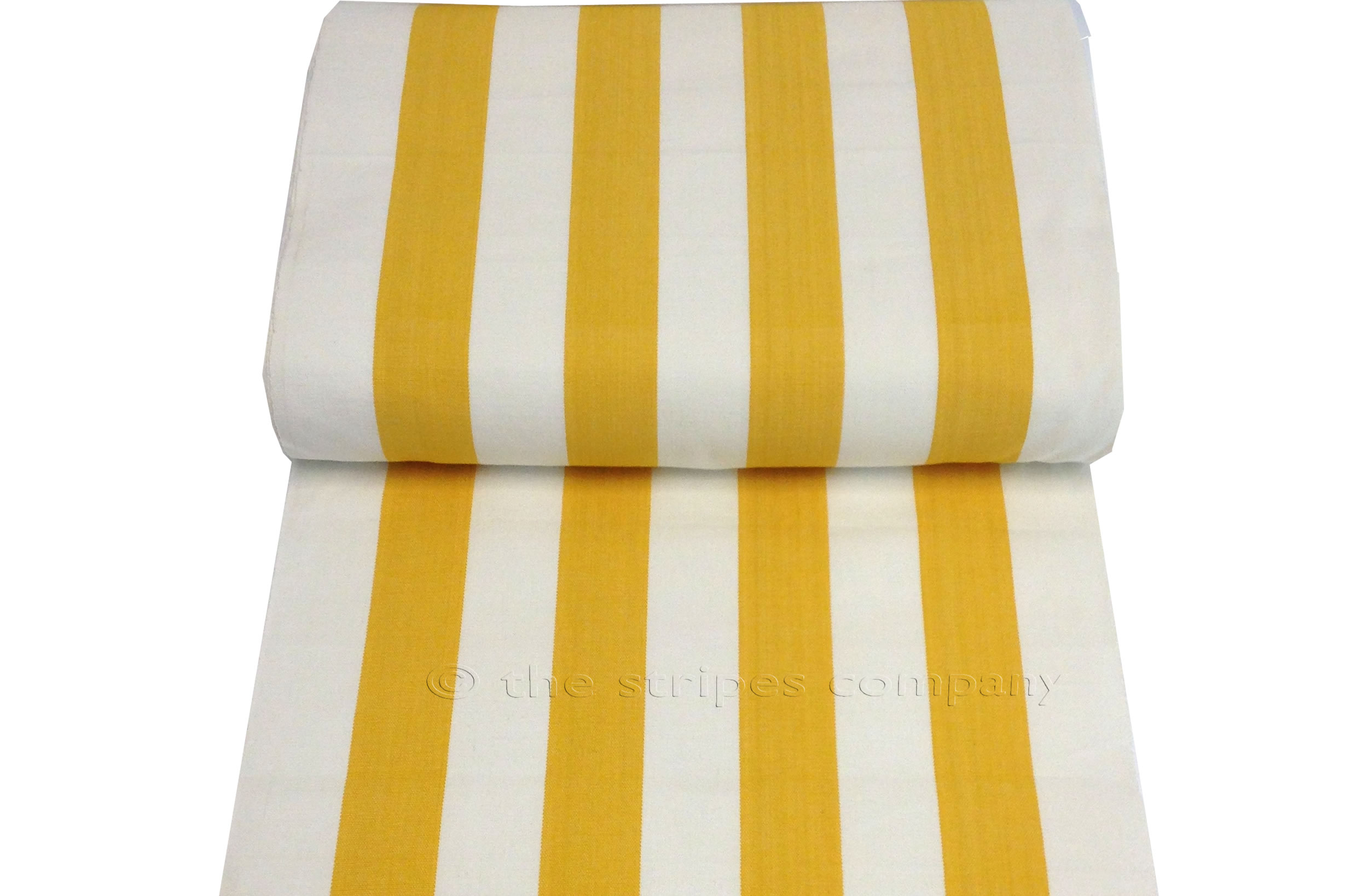 Yellow White Striped Deckchair Canvas Fabric