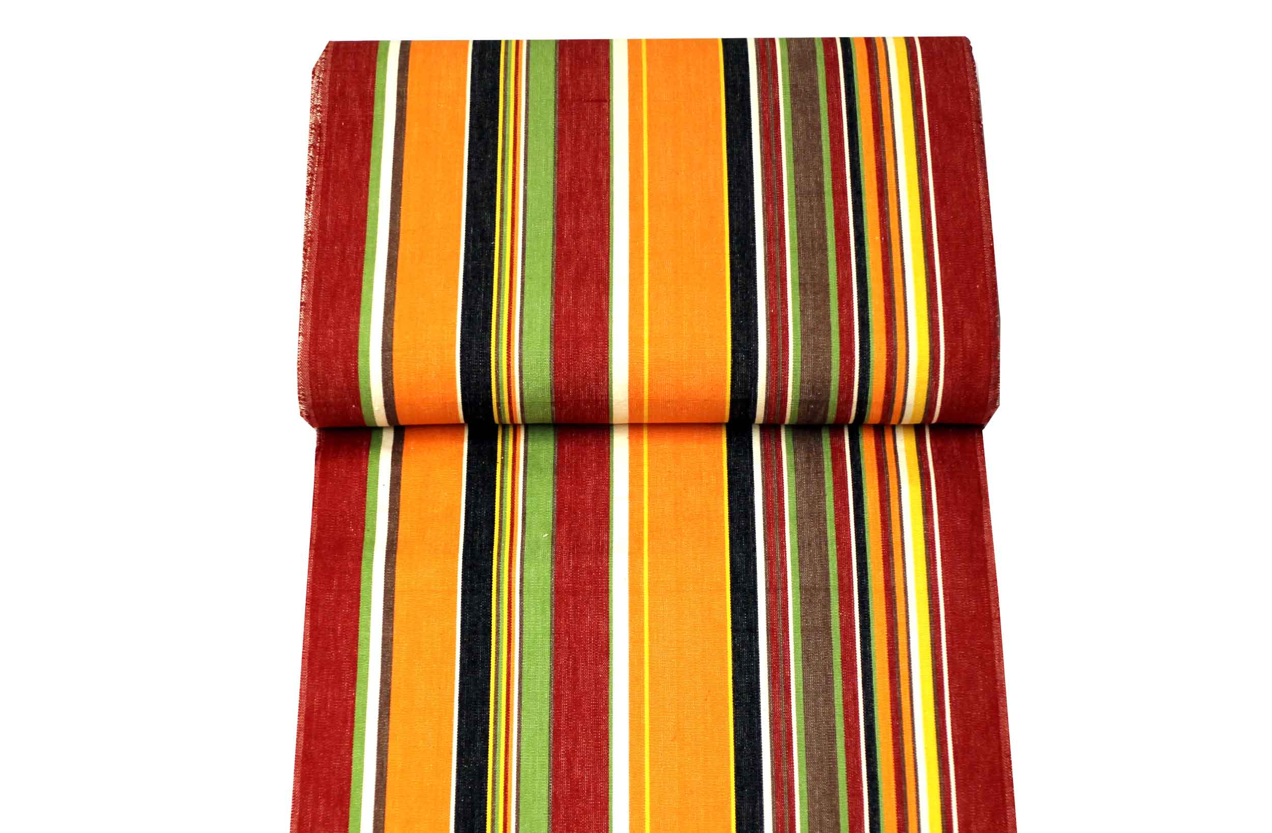 Orange Stripe Deckchair Canvas - Skipping
