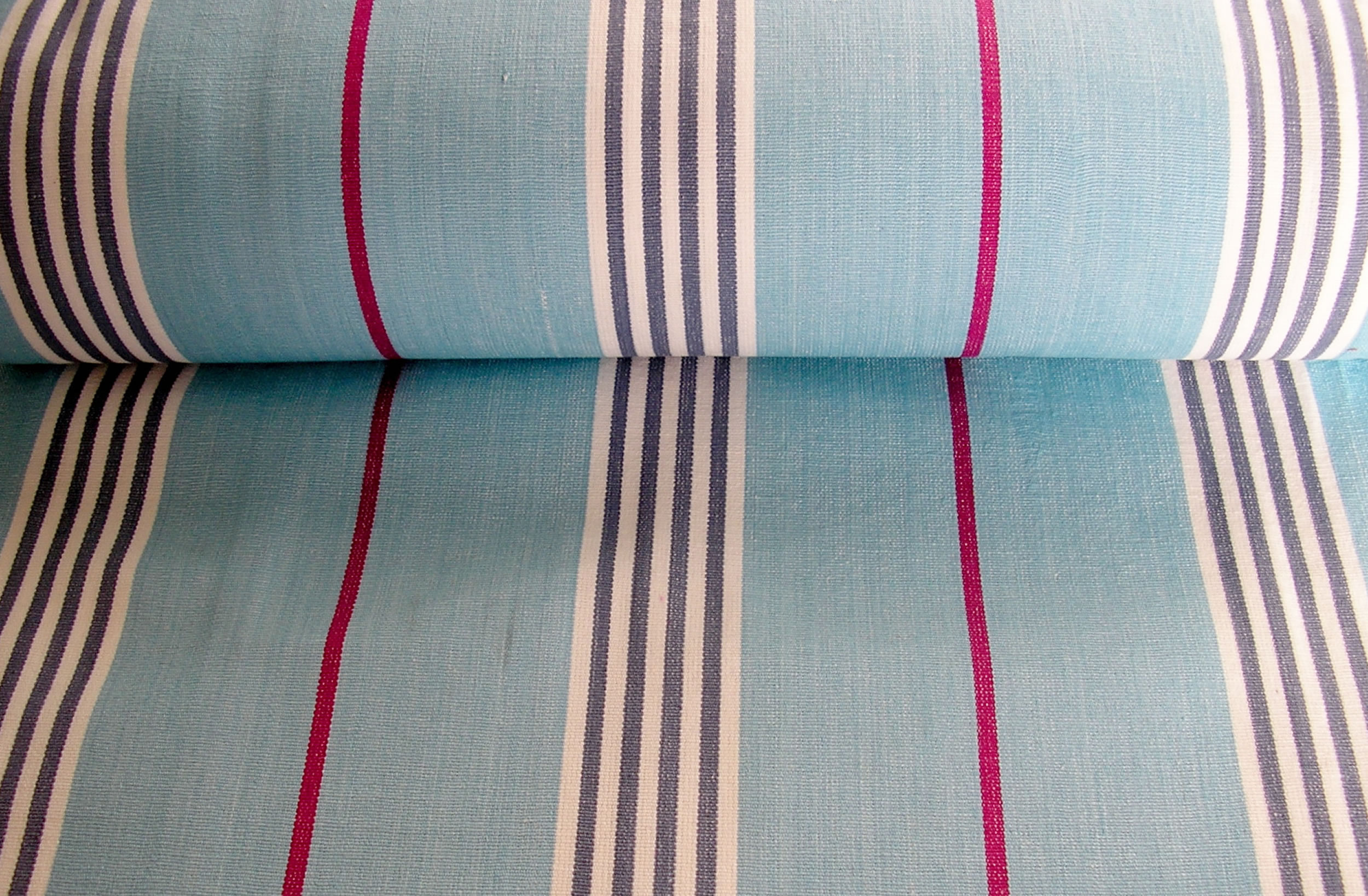 pale blue - Deckchair Canvas | Deckchair Fabrics | Striped Deck Chair Fabrics