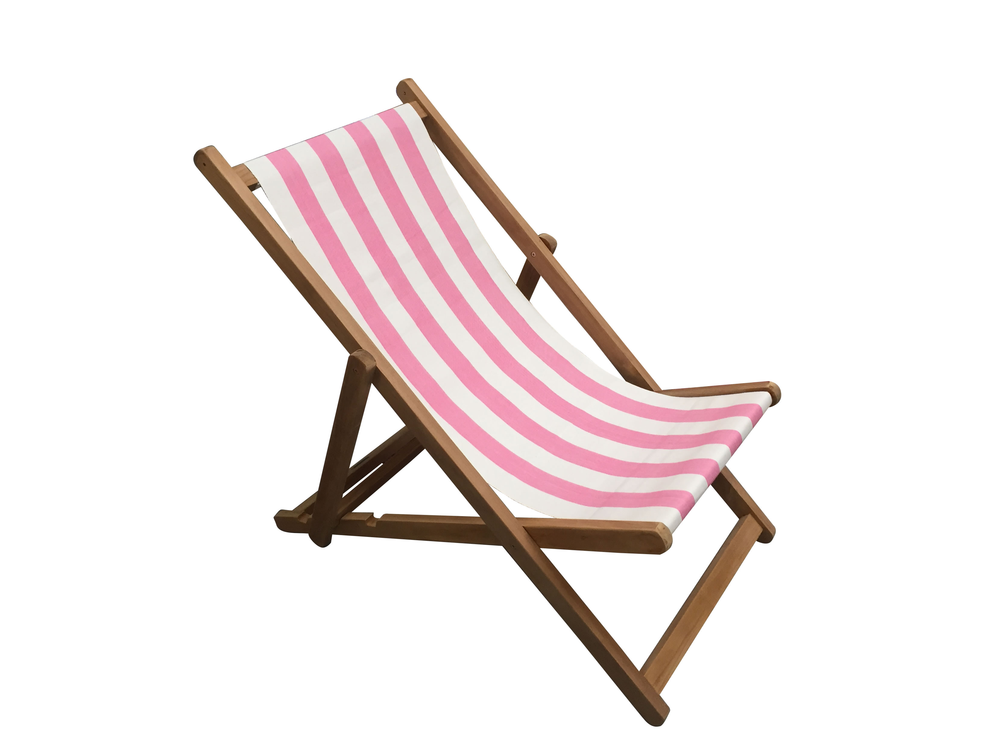 Pink and White Stripe Deckchairs