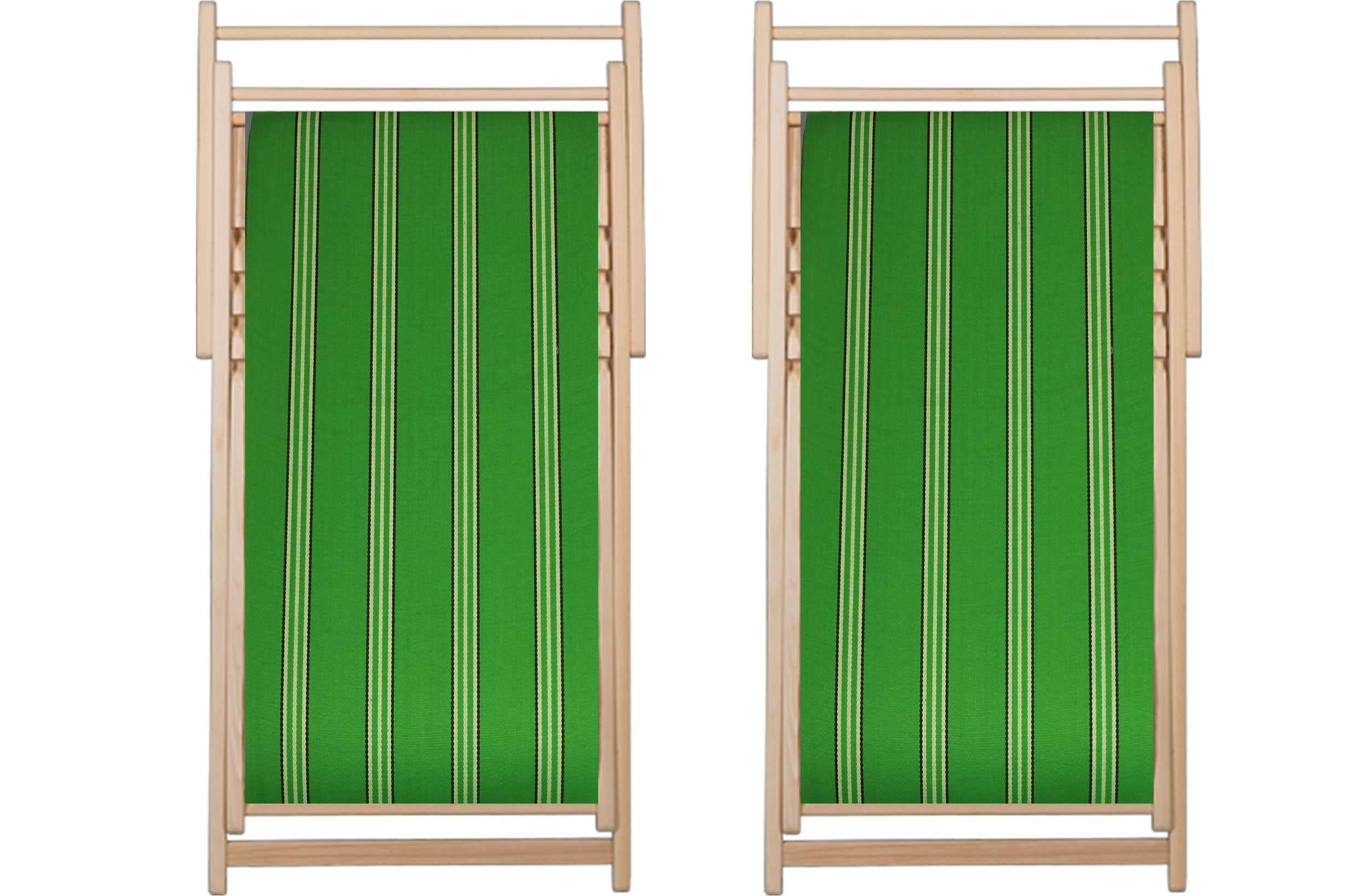 Green Deckchairs - Rounders Stripe