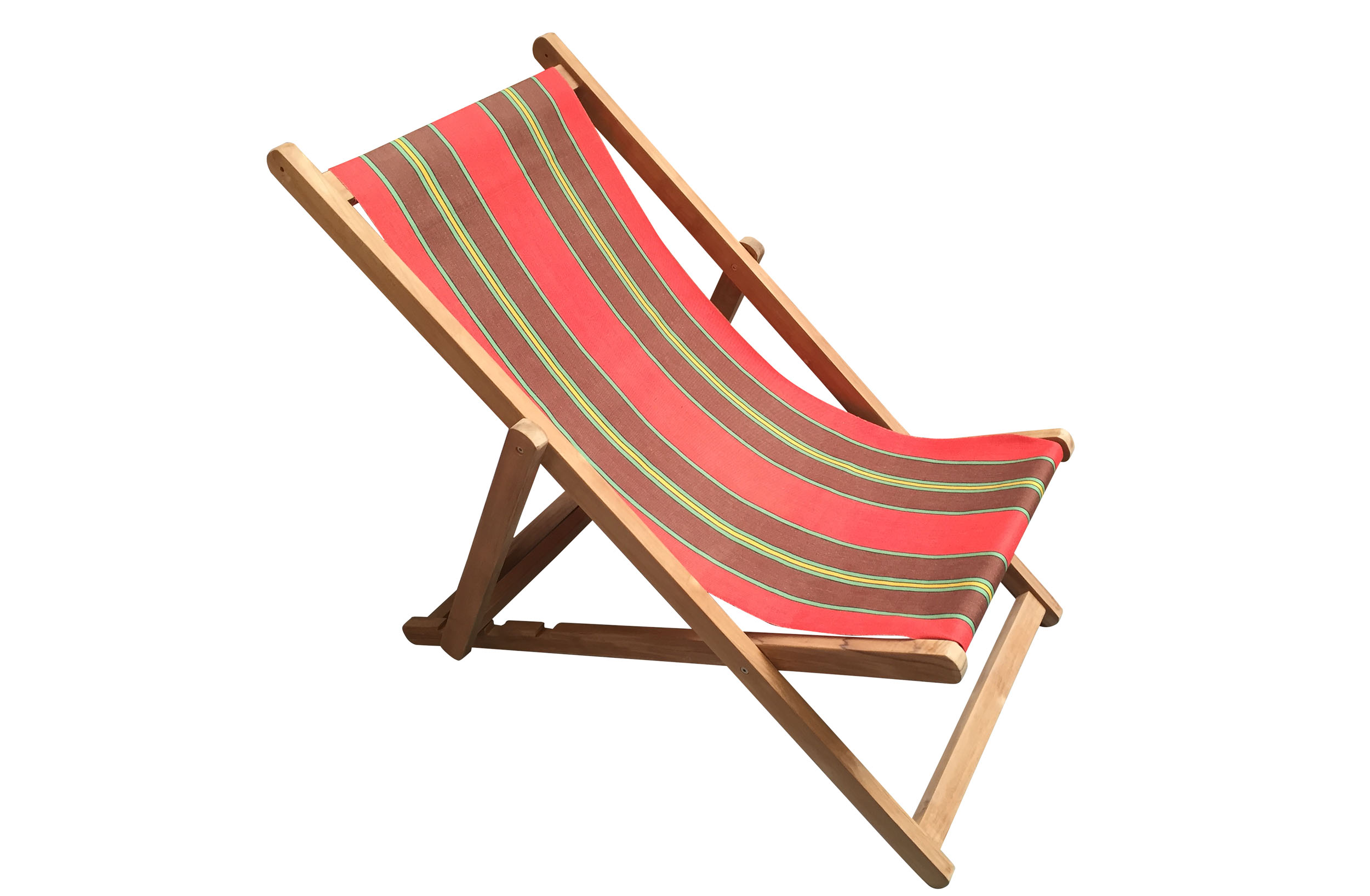 Red Deckchairs | Folding Wooden Deck Chairs Triathlon Red Stripes