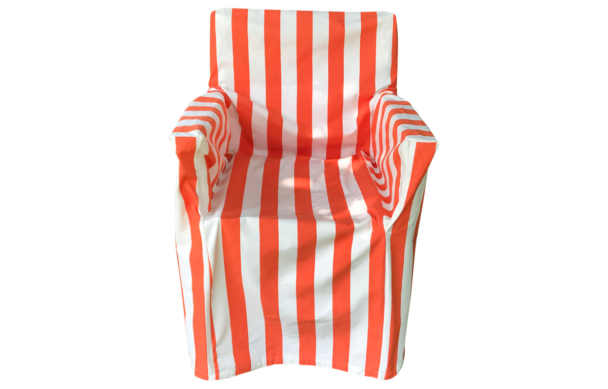 Orange and White Stripe Loose Covers for Directors Chairs