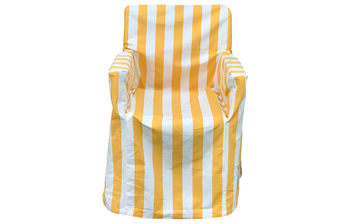 Yellow and white stripe Directors Chair Loose Covers