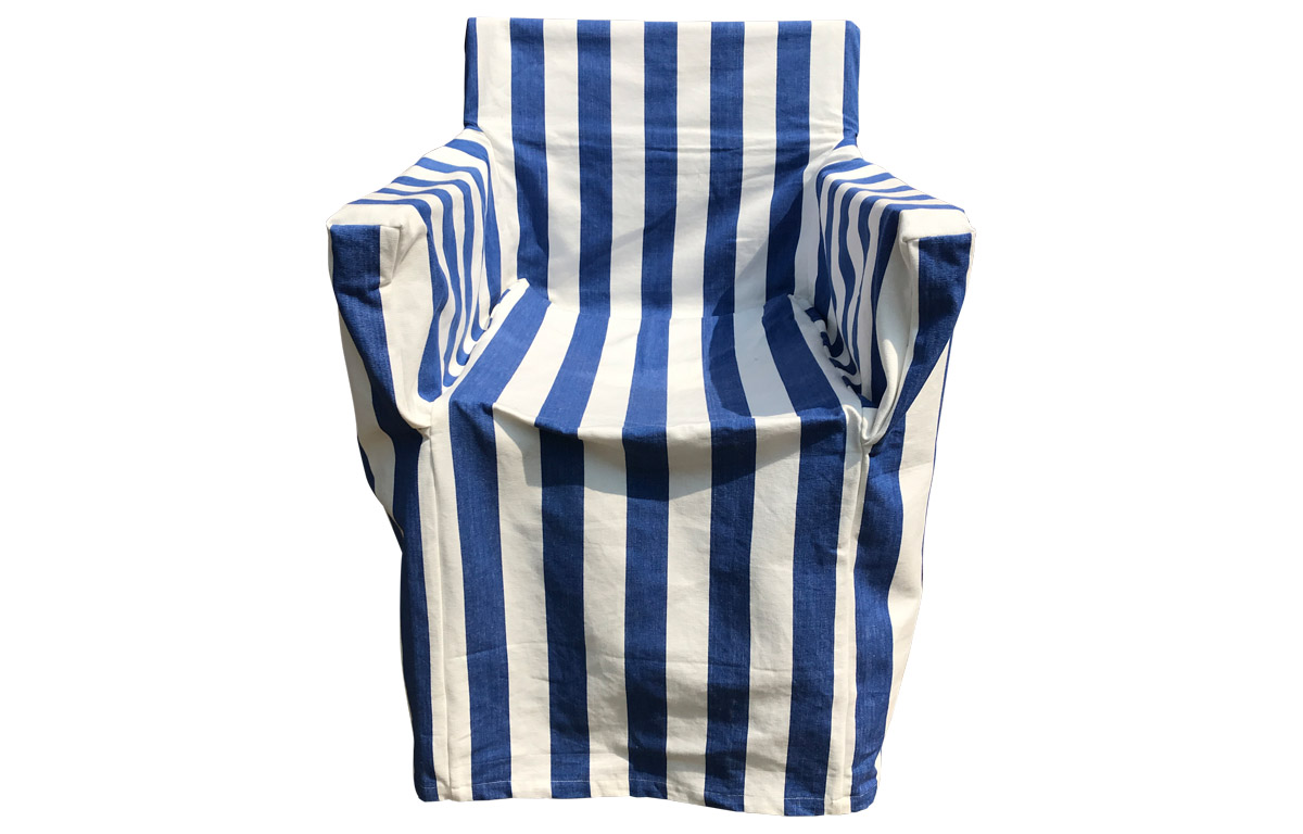 Blue & White Stripe Directors Chair Loose Covers